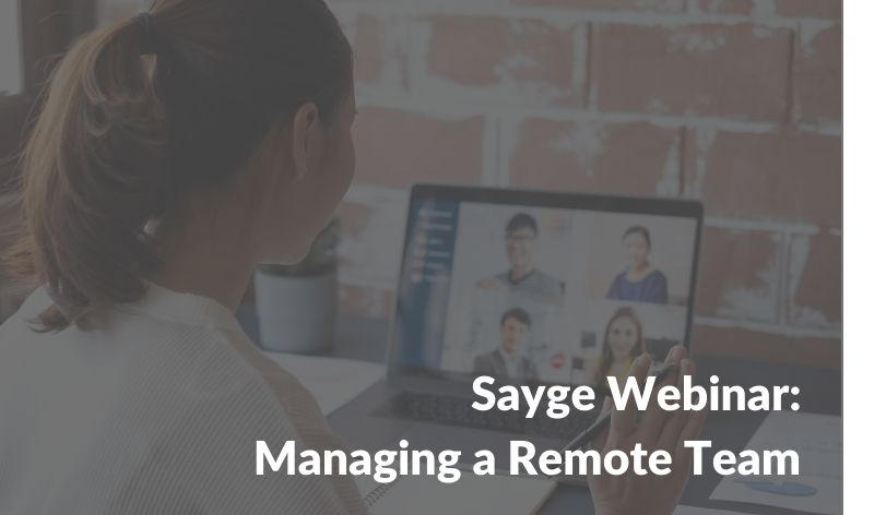Managing a Remote Team